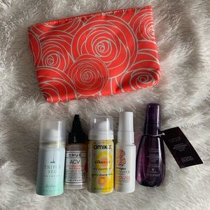 5 piece travel size hair products WITH bag (NWT)